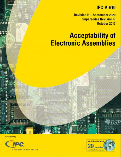 IPC-A-610H Acceptability of Electronic Assemblies