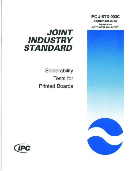 IPC J-STD-003C Solderability Tests for Printed Boards