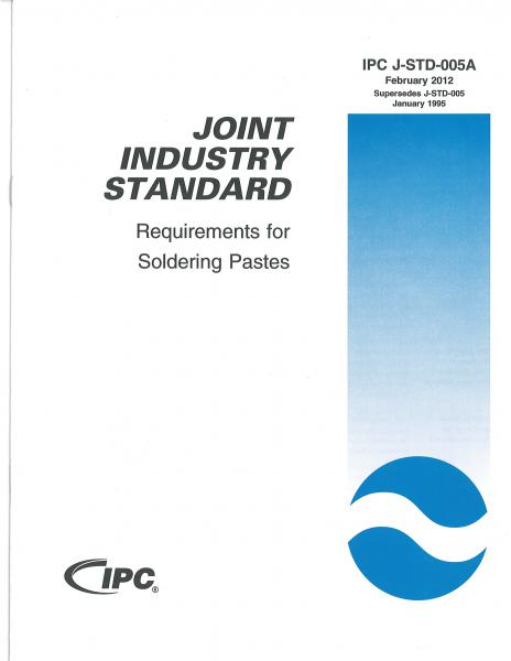 IPC J-STD-005A Requirements for Soldering Pastes