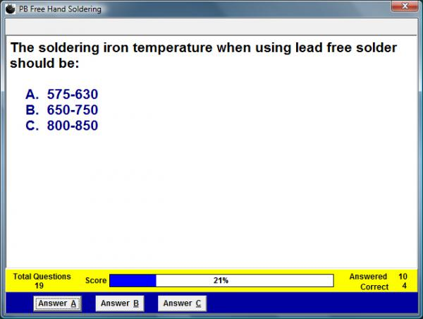 Lead Free Soldering Assessment