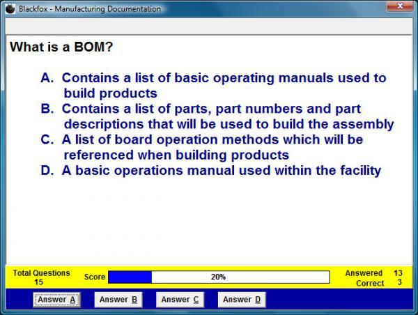 Manufacturing Documentation Assessment