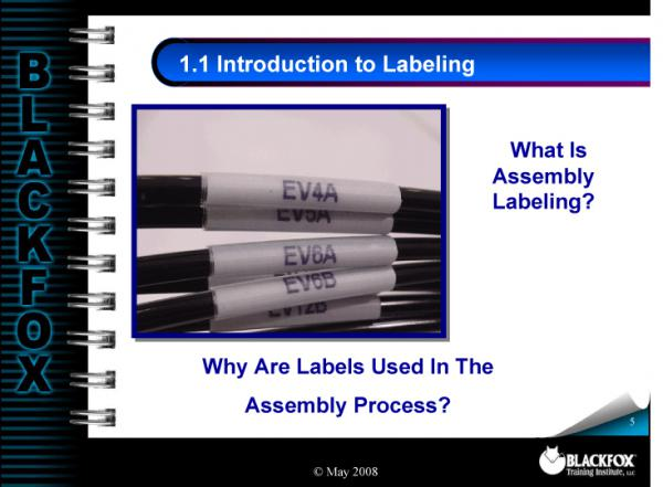 Cable Labeling Training Materials