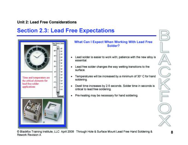 Lead-Free TH & SMT Soldering Training Materials