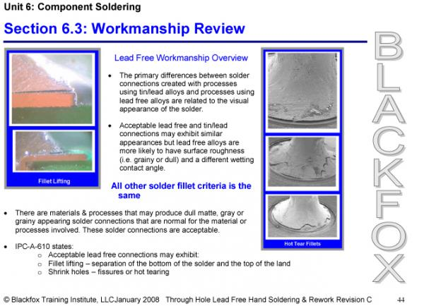 Lead-Free Through-Hole Soldering Training Materials