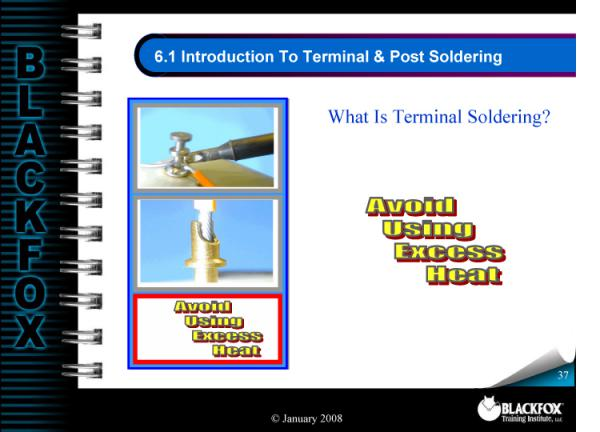 Terminal & Post Soldering Training Materials